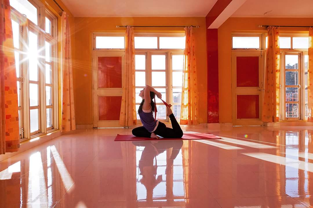 Kailash Tribal School Yoga Studio, Dharamsala Himalayas India. Waiting for the 2016 students.